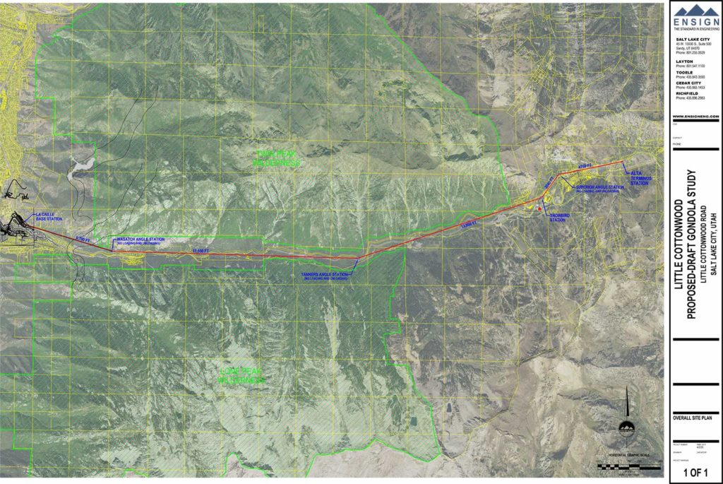 UDOT Little Cottonwood Canyon gondola study