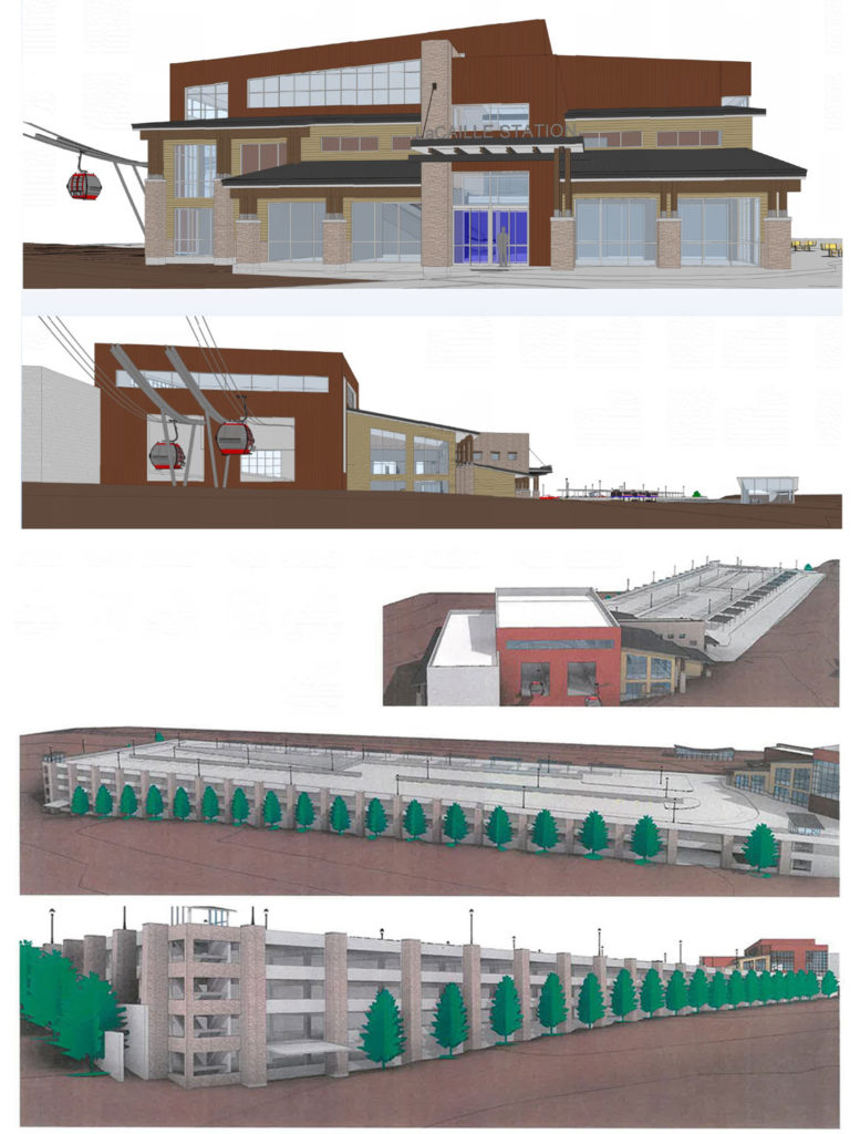 concept drawings of La Caille Station for UDOT's Little Cottonwood Canyon project